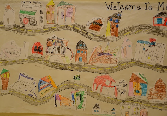 A Place Called Kindergarten: social studies. Draw places in your community and add your houses
