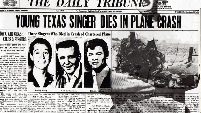 In 1959, a deadly plane crash robbed rock and roll of three of its top singers: Ritchie Valens, J.P. 'The Big Bopper' Richardson and Buddy Holly