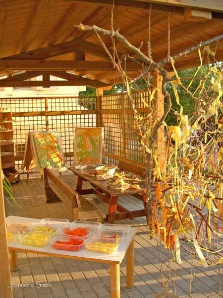 Cool Reggio Emilia inspired art area for children