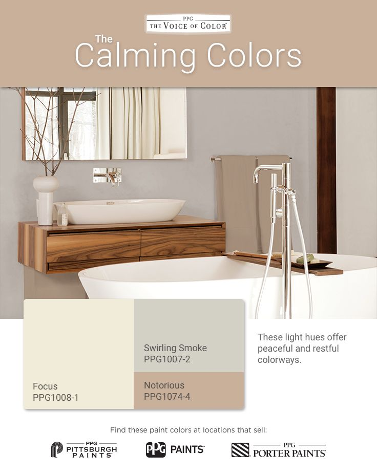 The Calming Palette Is A Relaxing, Neutral Set Of Harmonizing Paint Colors.  These Light