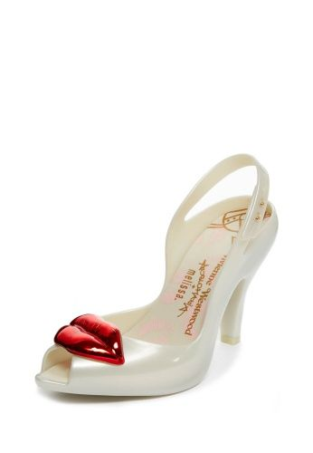 Vivienne Westwood Lady Dragon White with Lips. Touch of the Rocky Horror Vibe methinks?