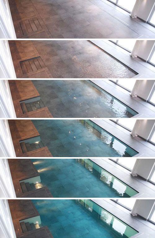 Walk on Water: Hydro-Floors Hide Secret Swimming Pools