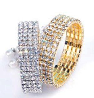 Bratari de aur cu cristale - bratari indiene