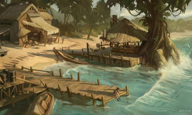 Island Left Behind Concept from Uncharted: Drake's Fortune