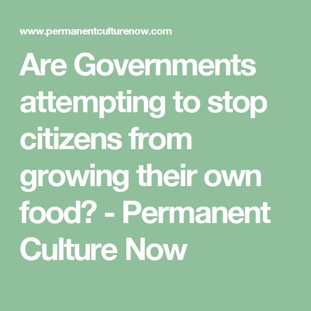 Are Governments attempting to stop citizens from growing their own food? - Permanent Culture Now