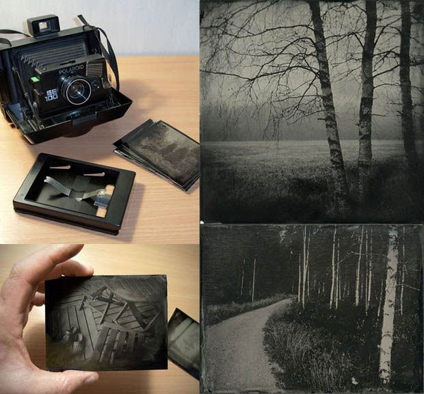 Repurpose a Vintage Polaroid Camera for Wet Plate Photography. #polaroid #photography