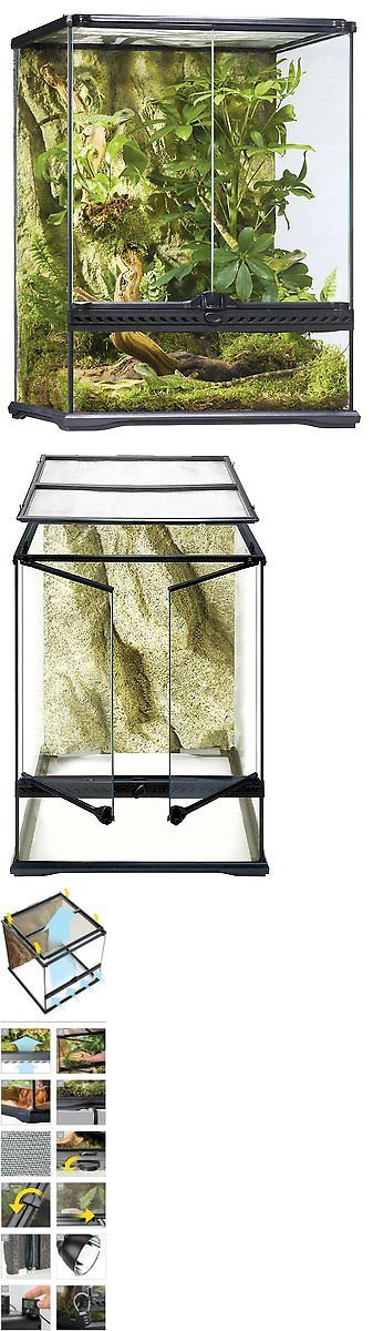 Reptile Supplies 1285: Exo Terra Glass Terrarium, 18 By 18 By 24-Inch BUY IT NOW ONLY: $154.74