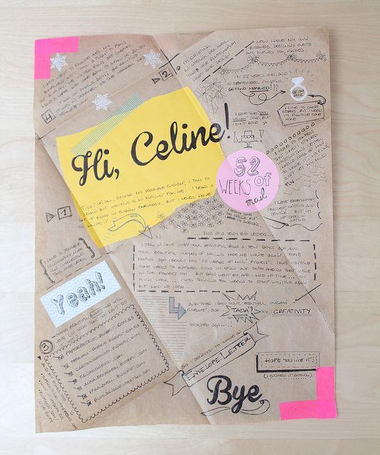 Fold a sheet into an envelope. Write cutely onto it.