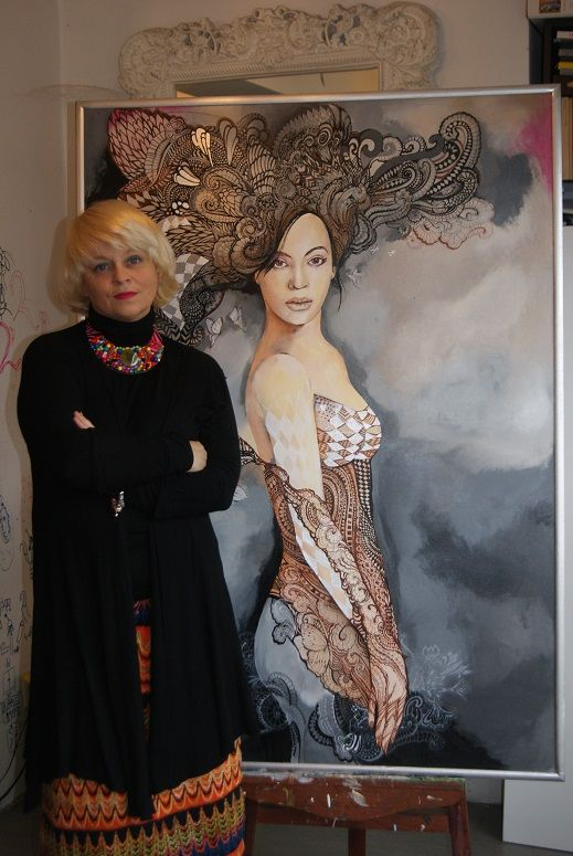 maggie piu and your paintings BEYONCE
