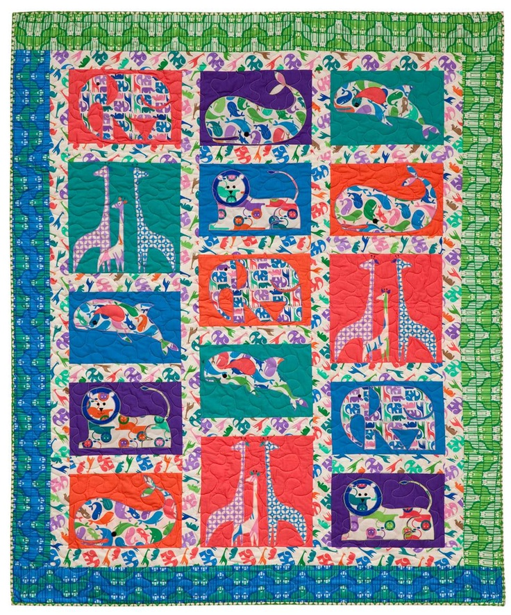 Free Downloadable Quilt Pattern Quot Zoo Menagerie Quot By