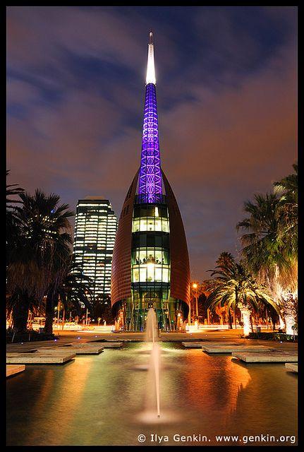 The Swan Bell Tower at Night, Perth, WA, Australia |