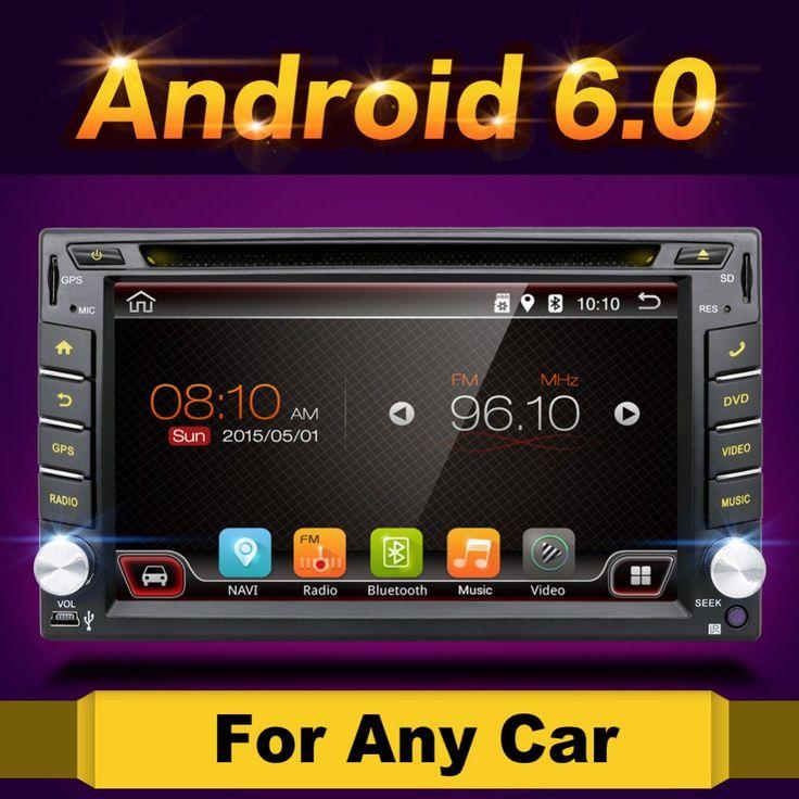 Big discount US $192.47  Quad Core 800*480 2 Din Android 6.0 Fit NISSAN QASHQAI Tiida Car Audio Stereo Radio GPS TV 3G WiFi dvd automotivo Universal DDR3