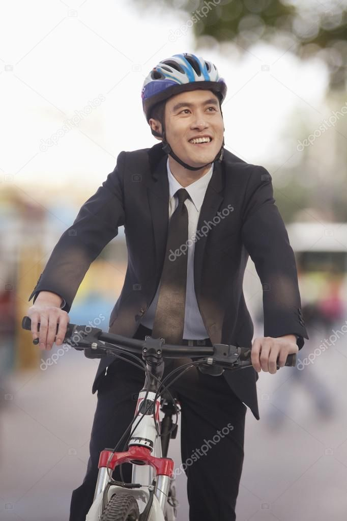 Businessman riding a bicycle Royalty Free Stock Images , #Ad, #bicycle, #riding,…