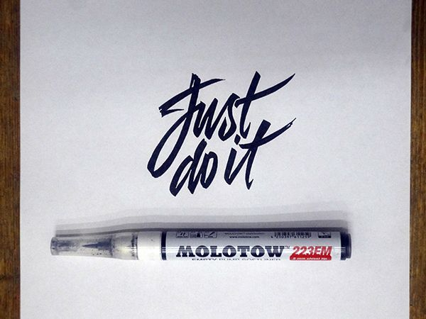 Calligraphy lettering logos behind the scene part on