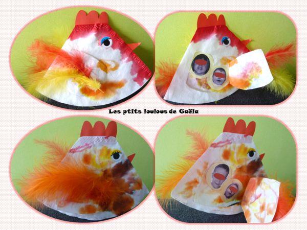 Bricolage enfants pour Pâques. Mamans poules et leurs poussins !!!