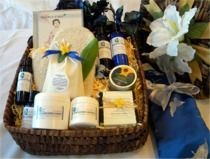 Holiday Spa Gift Basket: Exquisite holiday gift basket to relax after the hustle and bustle of the season. These luxurious spa gifts are perfect to enjoy a restorative sanctuary at home. Our aromatherapy bath & body products such as our wonderful body scrub, rejuvenating blend of essential oils, whipped shea butter, nourishing hand/body lotion, and herbal flax seed pillow will leave you feeling pampered and with a sense of well being.  http://www.blissfulbalance.com/holiday-spa-gift-basket/