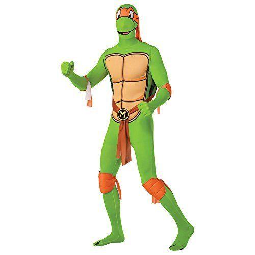 Rubies 2nd Skin Teenage Mutant Ninja Turtle Costume (Michelangelo) - Medium @ niftywarehouse.com #NiftyWarehouse #Halloween #Scary #Fun #Ideas