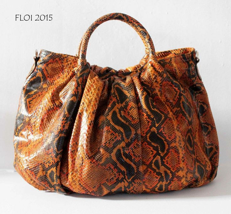 Chocolate floi Python bag ... Is ready at Balinesian ethnic purses Facebook