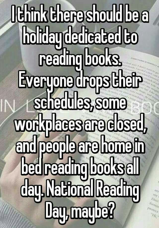 Via Books-An Escape on facebook maybe it could be a National Reading week