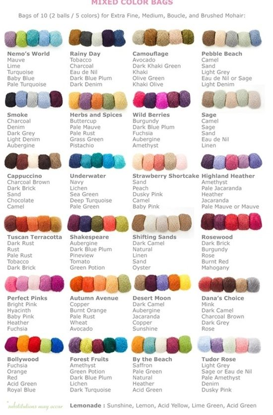 Color Combinations - for those of us who are bad at selecting colors that go together.