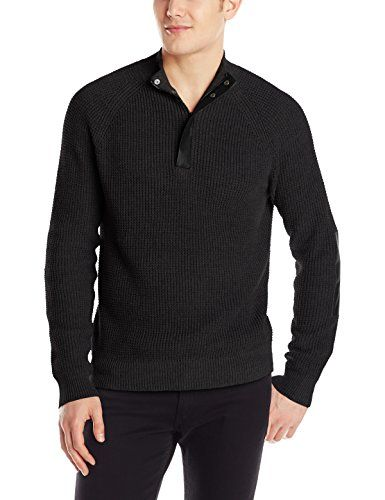 Kenneth Cole Men's Half Zip Sweater with Coating, Black, Small Kenneth Cole New York http://www.amazon.com/dp/B00M83J9Y0/ref=cm_sw_r_pi_dp_Q0OGub1BC641G