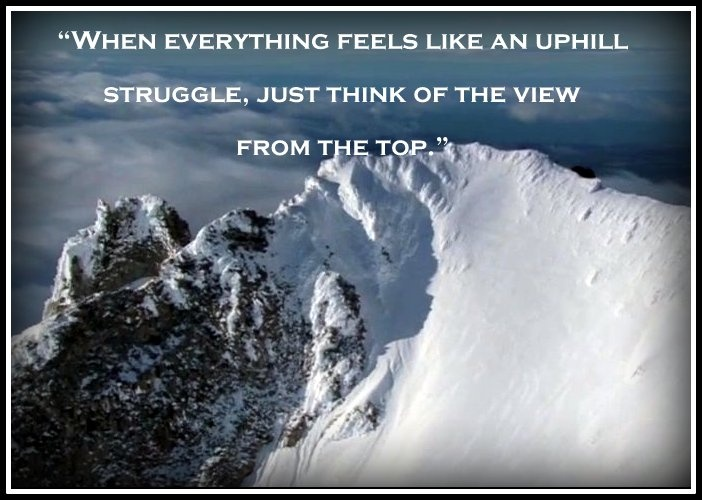 Sometimes, Envisioning the End Result Helps One Achieve a Goal ~ Success Messages from the Great Ones
