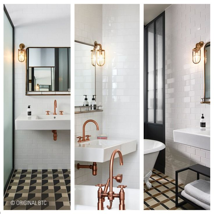 Humbert & Poyet have used our bespoke Ship's Well Glass Lights beautifully in this classically clean and sophisticated bathroom. See them at the Hoxton Hotel in Paris.