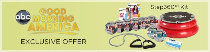 Our Step360 workout system was featured on Good Morning America today as a great way to jump start your get-fit resolution!