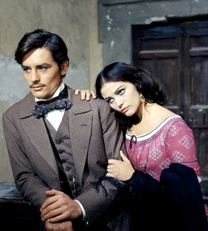 "Alain Delon and Claudia Cardinale ""The Leopard"" Luchino Visconti, 1963."