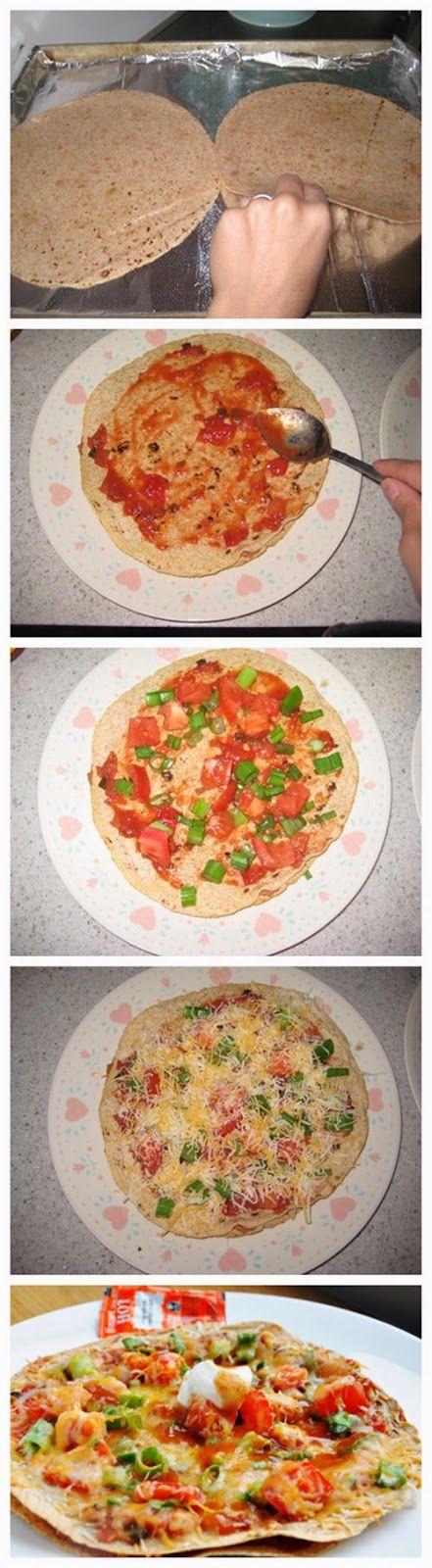 mexican tortilla pizza - Truelifekitchen