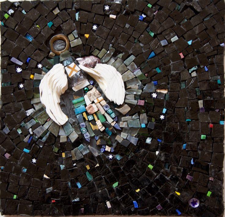 "Mosaic Art - WinterCreek Mosaics by Sue Leitch ""Angel of the Milky Way"""