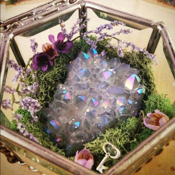 The Angel Aura Quartz Crystal Garden is now available! #crystals #gemstones…