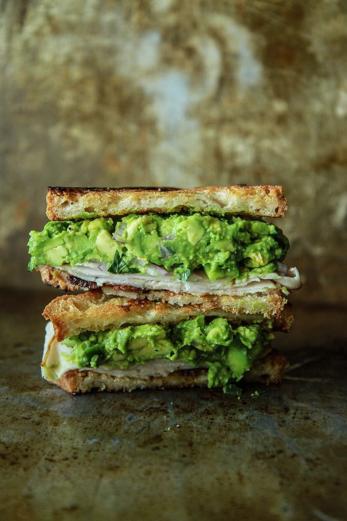 Guacamole, smoked turkey and bacon toasted sandwich from HeatherChristo.com