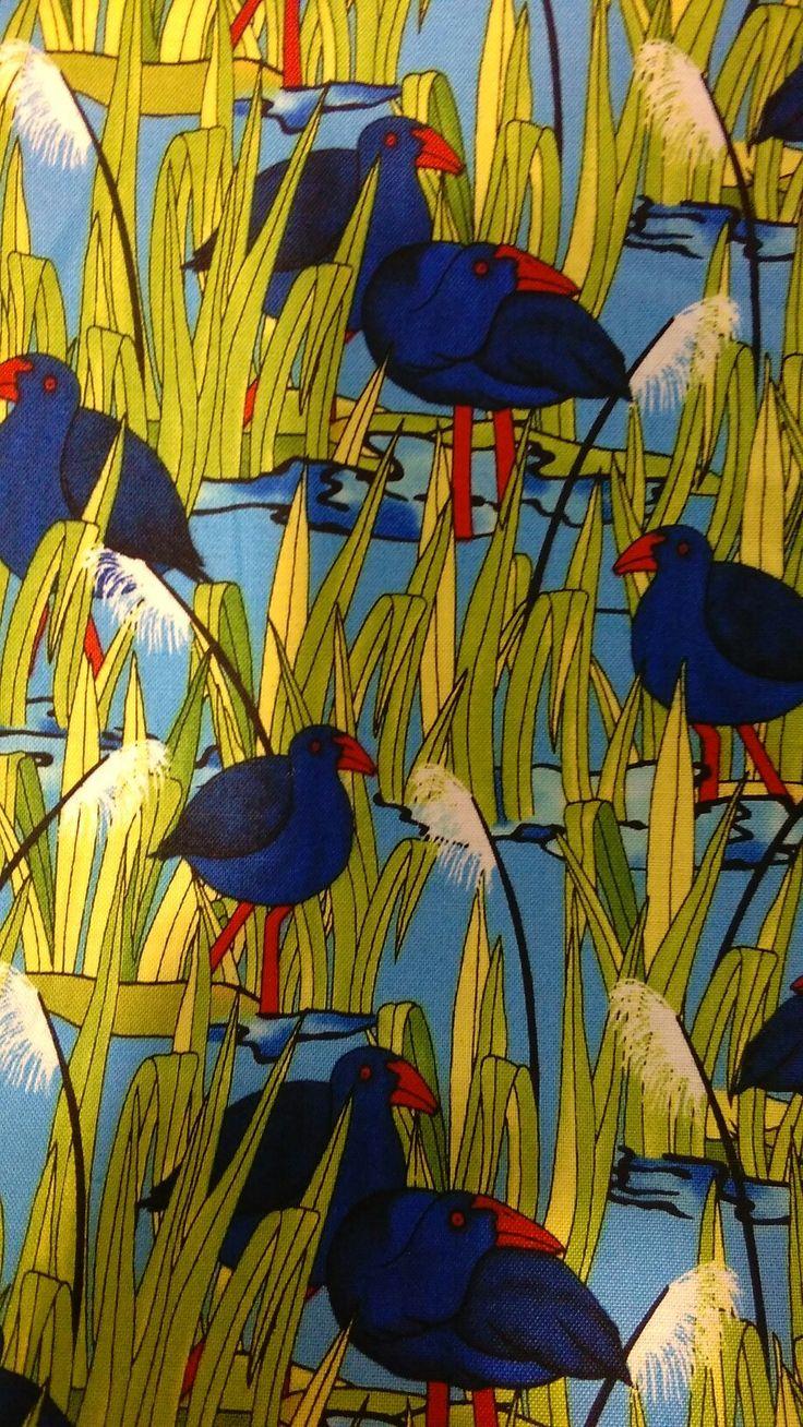 Takahe kiwiana fabric.