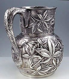 Art Noveau, sterling pitcher, Tiffany & Co. dated 1892-1902