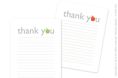 thank you printable by A Little Hut, via Flickr