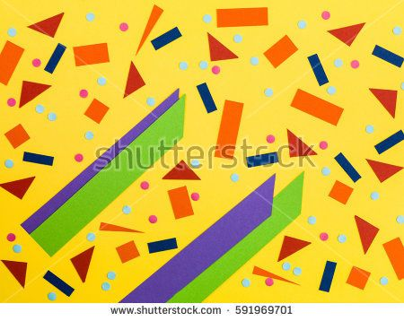 Illustration of Random Pattern of Bold Colors In Geometric Shapes