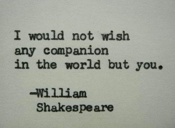 WILLIAM SHAKESPEARE Liebeszitat Geschrieben auf