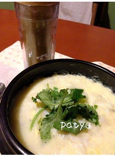 サブおかず➡グリーンスムージー(りんご&バナナ&八朔&セロリ) - 3件のもぐもぐ - お腹休めの卵粥 by patyu