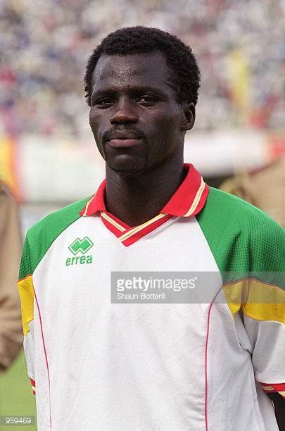 Portrait of El Hadji Sarr of Senegal prior to the FIFA 2002 World Cup Qualifyng match against Morocco played at the Stade Leopold Sedar Senghor in...