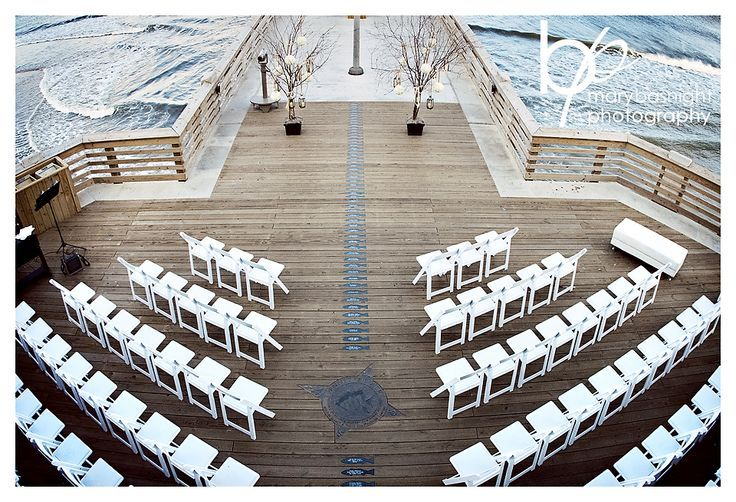 A waterside wedding venue is perfect for a nautical theme.