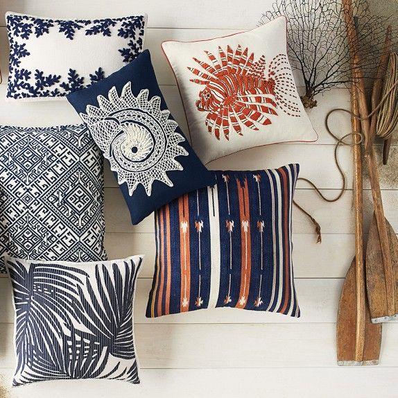 williams sonoma home shell pillow - Google Search