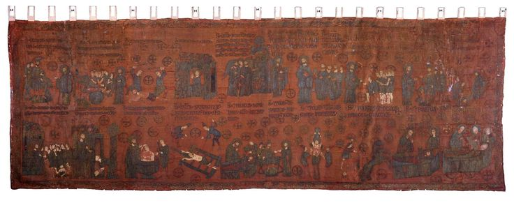 1259-82 textile martyrs of St Lawrence, gift of Michael VII to ask Genoese aid against turks