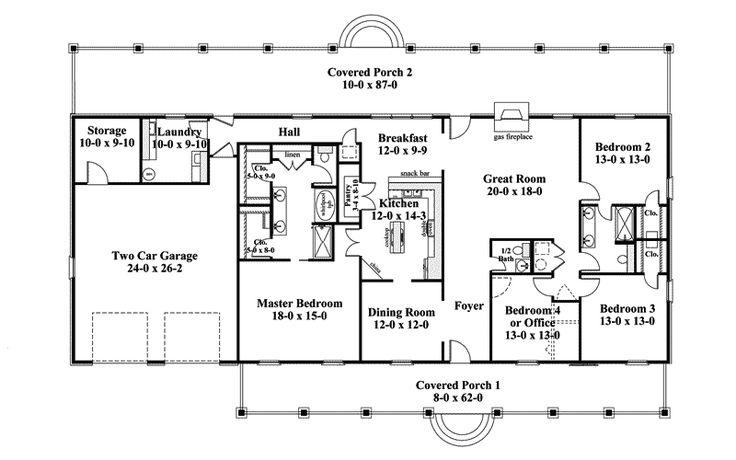one story ranch style house plans traditional house plan first floor 028d 0072 house plans and more home pinterest ranch style house
