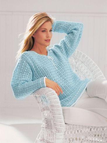 V-Neck Tunic | Free Crochet Pattern | http://www.yarnspirations.com/assets/files/pattern-files/pdf/Patons_Grace974_04_cr_tunic.en_US.pdf