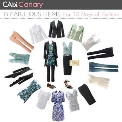 The most anticipated CAbi Canary Blog edition of the season is here! The CAbi 15 Items for 30 Days edition highlights the 15 MUST HAVE pieces that will give you 30 days of endless style options! #CAbi15for30