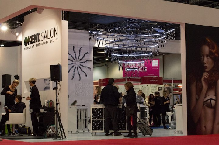 Our Salon International stand with demo area