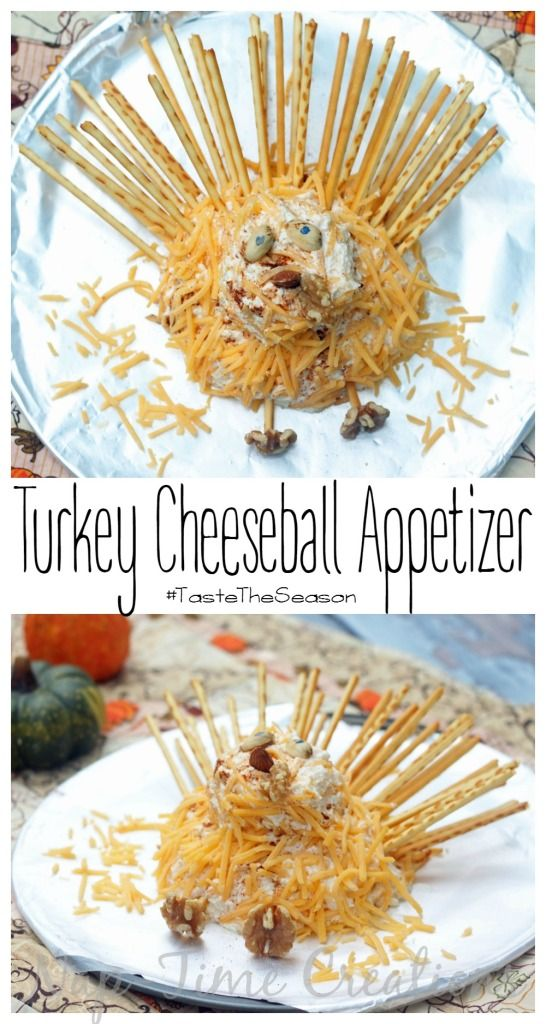Turkey Cheese Ball Appetizer #TasteTheSeason #CBias #Ad