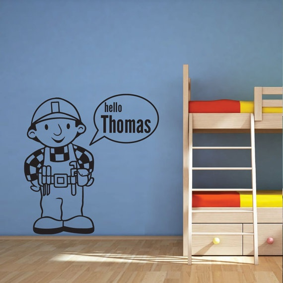 Bob The Builder Vinyl Wall Decal By RobotAndRubyDesigns On Etsy, £12.00