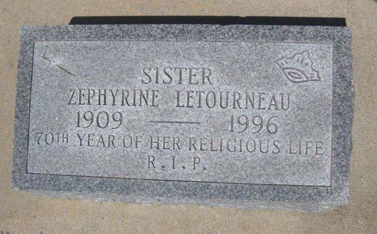 Sr Mary Zephyrine <i>Marcelline</i> Letourneau